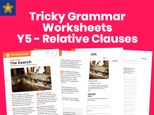 Tricky Grammar Worksheets – Y5 – Relative Clauses