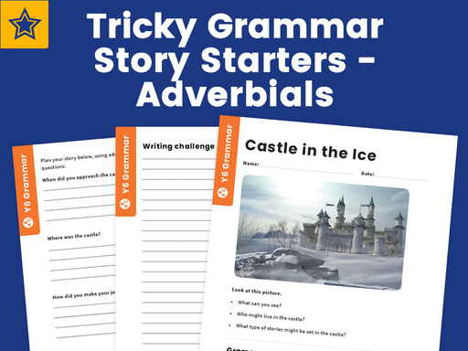 Tricky Grammar Worksheets - Y6 - Adverbials