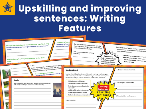 Upskilling and improving sentences Writing Features