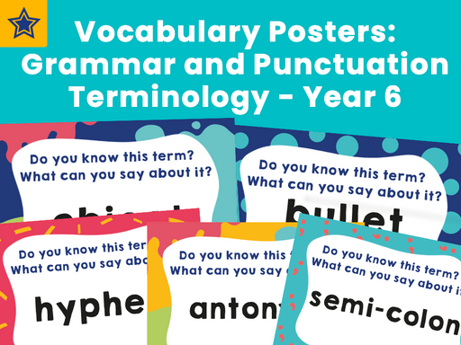 Vocabulary Posters: Grammar and Punctuation Terminology - Year 6