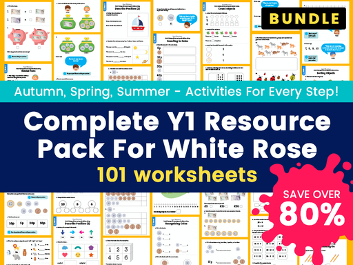 Complete Year 1 Resource Pack for White Rose Maths