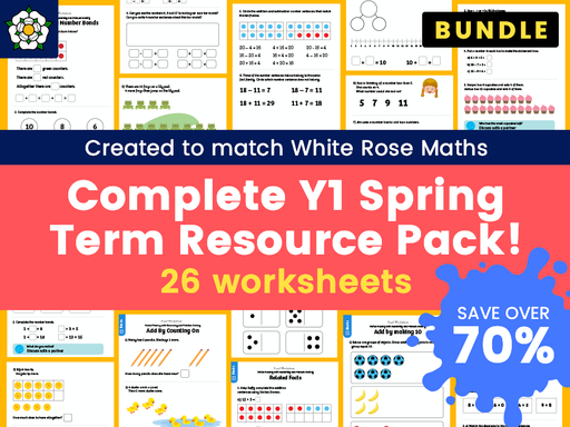 Complete Year 1 Spring Term Resource Pack – Created to match White Rose Maths