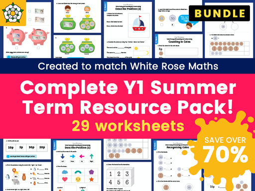 Complete Year 1 Summer Term Resource Pack – Created to match White Rose Maths