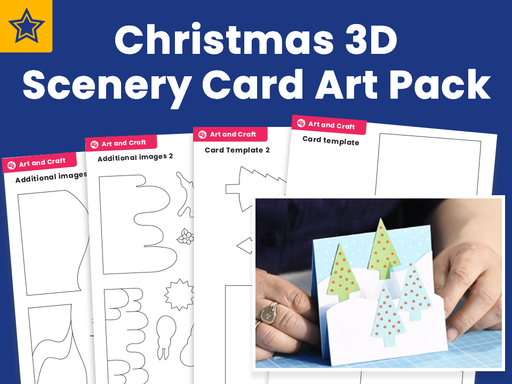 Pop-Up Christmas Card Art Pack