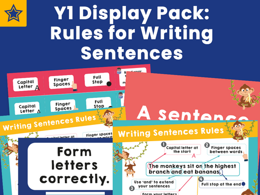 Y1 Display Pack: Rules for Writing Sentences