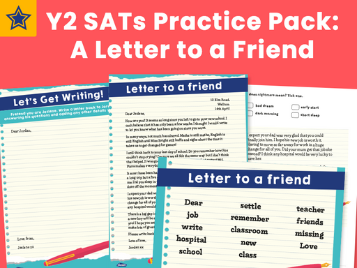 Y2 SATs Practice Pack: A Letter to a Friend