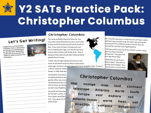 Y2 SATs Practice Pack Christopher Columbus