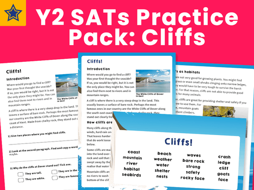 Y2 SATs Practice Pack: Cliffs
