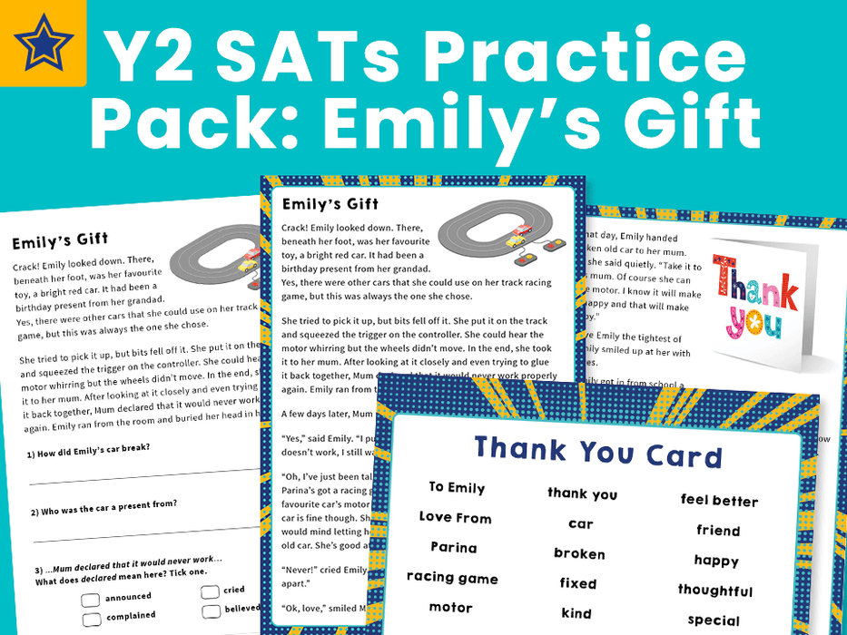 Y2 SATs Practice Pack: Emily's Gift