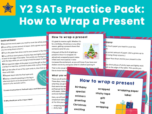 Y2 SATs Practice Pack: How to Wrap a Present