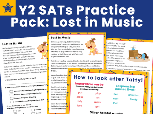 Y2 SATs Practice Pack: Lost in Music