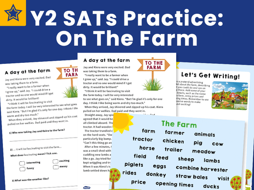 Y2 SATs Practice Pack: On The Farm