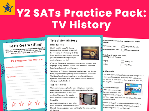 Y2 SATs Practice Pack: TV History