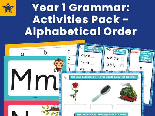 Year 1 Grammar: Activities Pack - Alphabetical Order