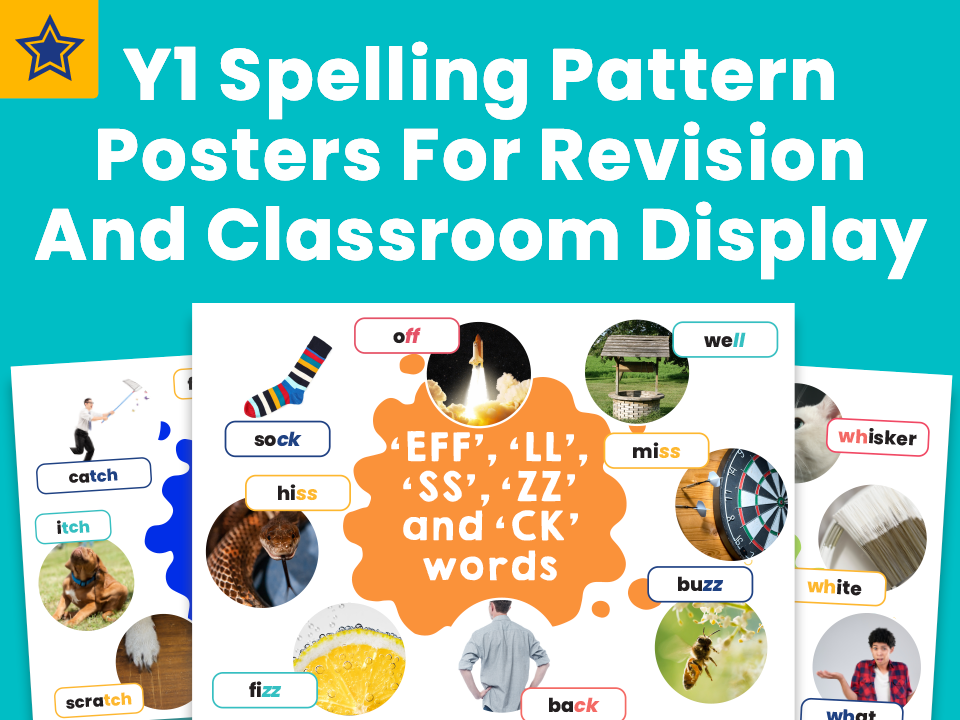Year 1 Spelling Pattern Posters For Revision And Classroom Display