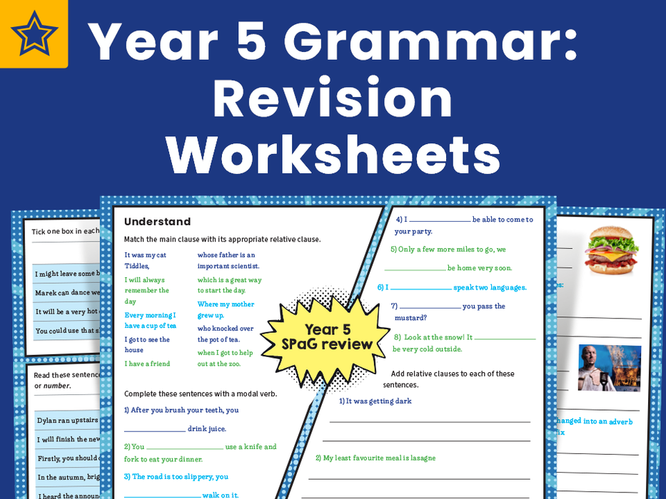 Year 5 Grammar: Revision Worksheets