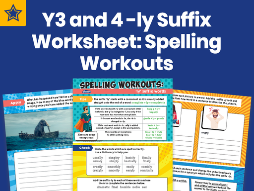 Years 3 And 4 -ly Suffix Worksheet: Spelling Workouts