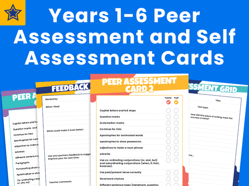 Years 1-6 Peer Assessment and Self Assessment Cards