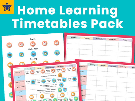 Home Learning Timetables Pack
