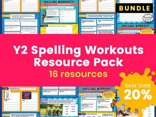 Y2 Spelling Workouts Resource Pack