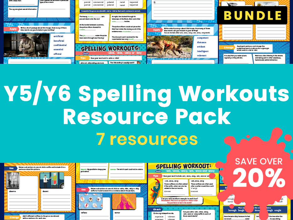 Y5/Y6 Spelling Workouts Resource Pack