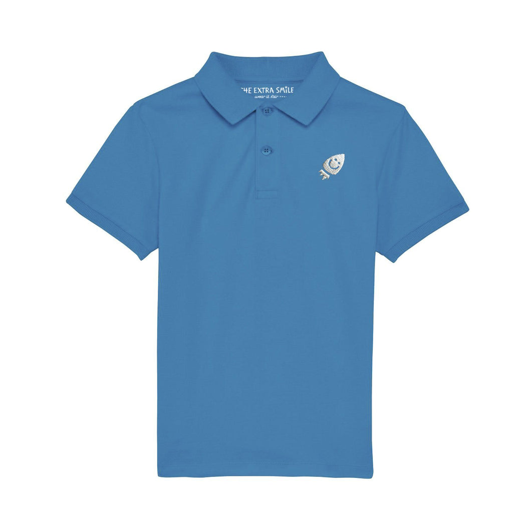 Pre-order Oscar Polo Shirt Azur shirt The Extra Smile 3-4 / Azur
