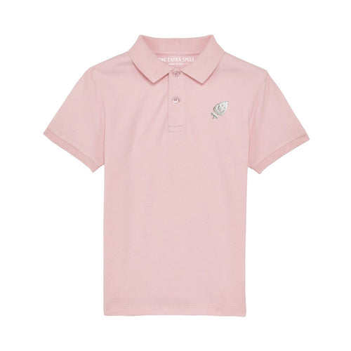 Pre-order Oscar Polo Shirt Cotton pink shirt The Extra Smile 3-4 / Cotton pink