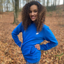 Load image into Gallery viewer, Pre-Order Raven's royal blue hoodie The Extra Smile