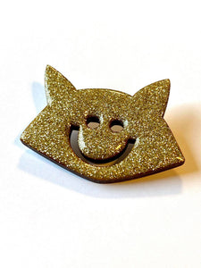 The Fox pin accessory The Extra Smile golden