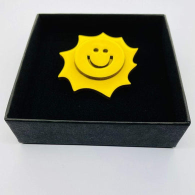 The Sun pin accessory The Extra Smile yellow