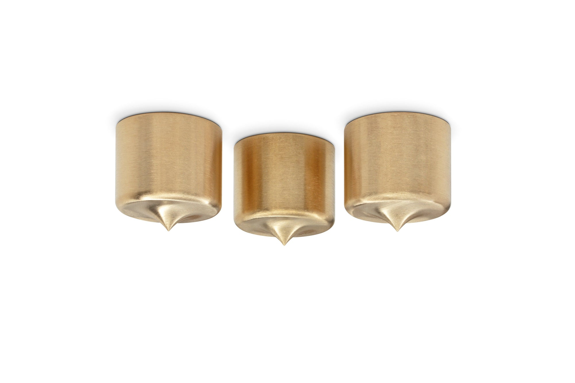 "PUREPOINT® BRASS FOOTERS 1½"" DIA X 1½"" TALL (SET OF 3)"
