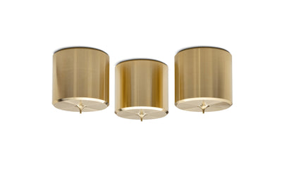 "PUREPOINT™ BRASS FOOTERS 2"" DIA X 2"" TALL (SET OF 3)"