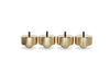 "PUREPOINT™ BRASS FOOTERS 2"" DIA X 2"" TALL W/ M6-1 THREADED STUD - RADIUS TOE (SET OF 4)"