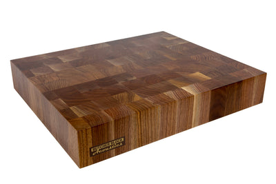 "WALNUT END-GRAIN AUDIO PLATFORMS 3"" THICK"