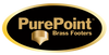 "PUREPOINT™ BRASS FOOTERS 1½"" DIA X 1½"" TALL (SET OF 3)"