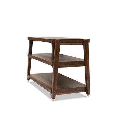 "rigidrack™ - 3 Shelf Rack - 1½"" Thick Walnut Shelves - 1½"" Walnut Legs"