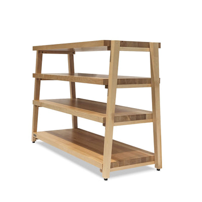 "rigidrack™ - 4 Shelf Rack - 1½"" Thick Maple Shelves - 1½"" Maple Legs"