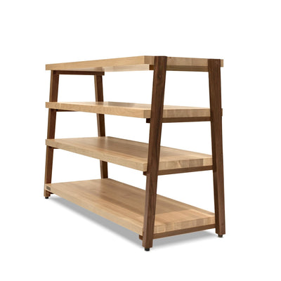 "rigidrack™ - 4 Shelf Rack - 1½"" Thick Maple Shelves - 1½"" Walnut Legs"