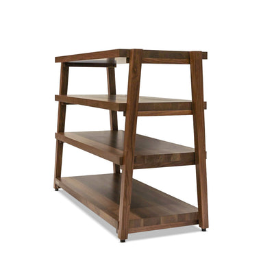"rigidrack™ - 4 Shelf Rack - 1½"" Thick Walnut Shelves - 1½"" Walnut Legs"