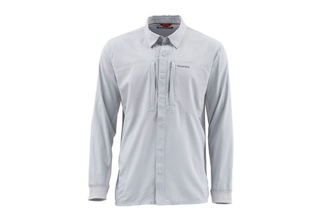 Simms Intruder BiComp Long Sleeve Shirt Sterling