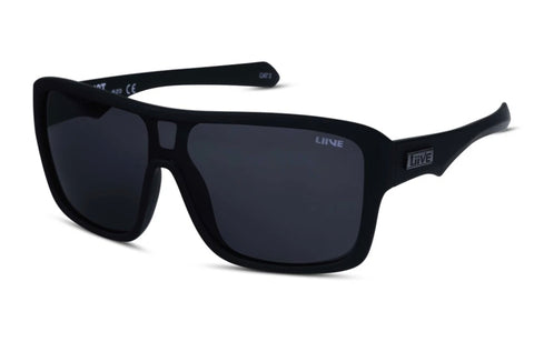 Liive Verdict Matt Black Polarised Sunglasses (Grey Lens)