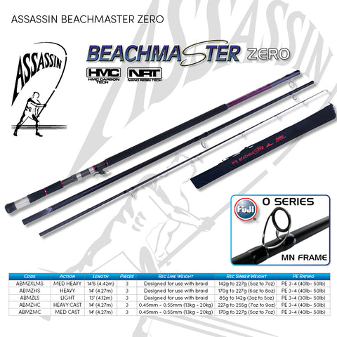 "Assassin Beach Master Zero MXL 5-7oz 14'6"" Spin"