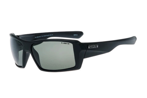 Liive The Edge Matt Black Polarised Sunglasses (Grey Lens)