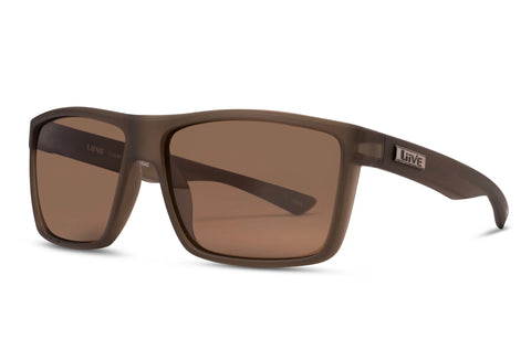 Liive Tuban Army Polarised Sunglasses (Brown Lens)