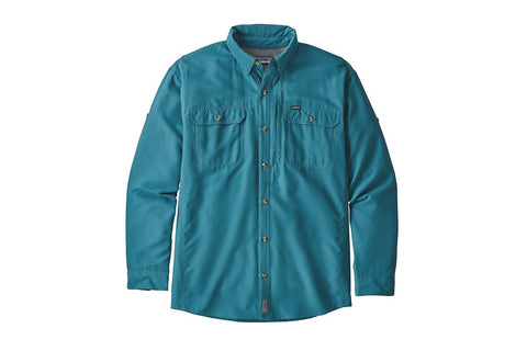 Patagonia Men's Sol Patrol II Long Sleeve Sun Shirt Lumi Blue