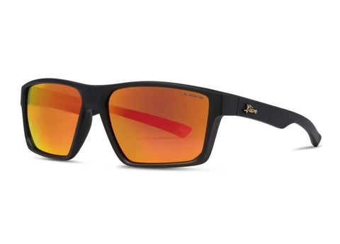 Liive Lob Matt Black Polarised Sunglasses (Orange Lens)