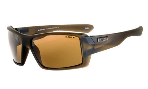 Liive The Edge Matt Beer Polarised Sunglasses (Brown Lens)