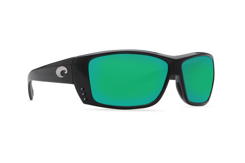 Costa 580G Cat Cay Black Sunglasses (Green Lens)