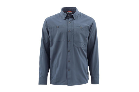 Simms Double Haul Long Sleeve Shirt Dark Moon