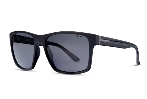Liive Kerrbox Matt Twin Black Polarised Sunglasses (Grey Lens)